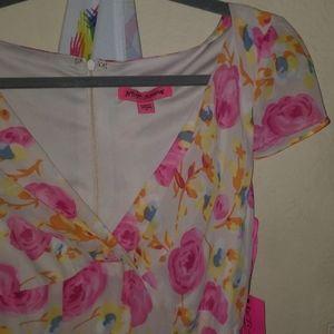 NWT Betsy Johnson Floral Dress